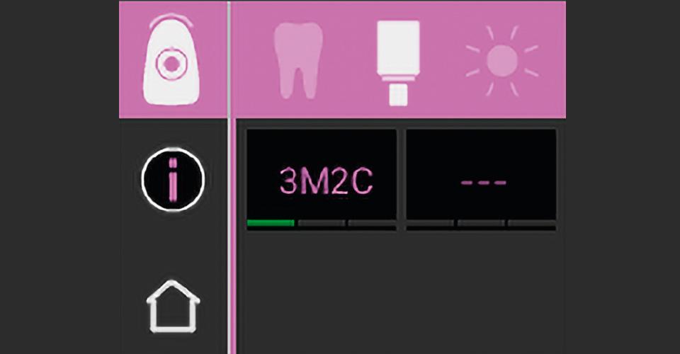Abb. 2: Die im Blockmodus von VITA Easyshade V ermittelte Zahnfarbe war 3M2.