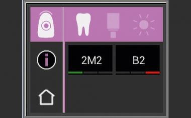 Fig. 5: El color dental básico 2M2 se determinó mediante el VITA Easyshade V.